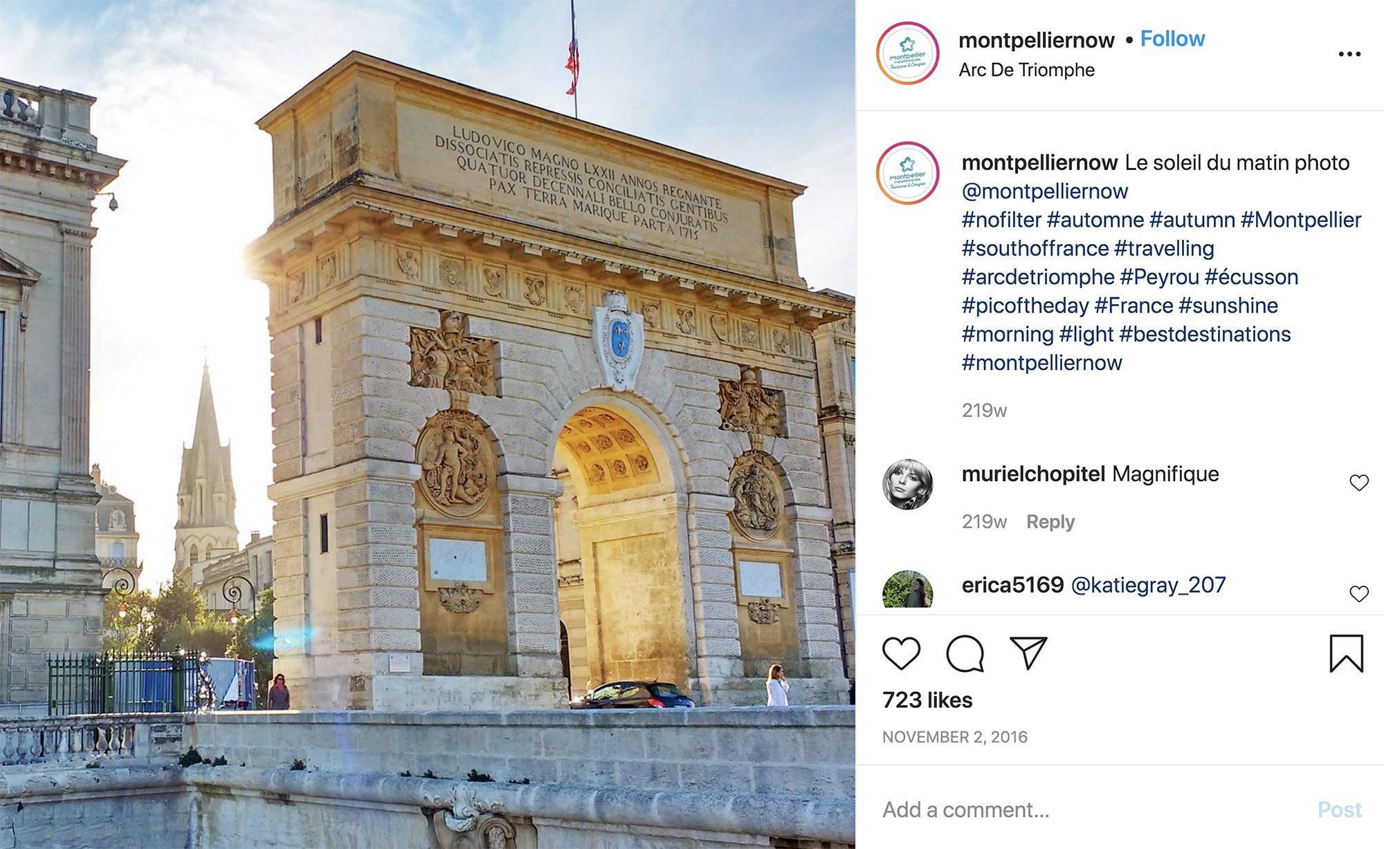 Turismo Montpellier Arco del triunfo